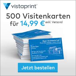 vistaprint druck und print fuer fuechse