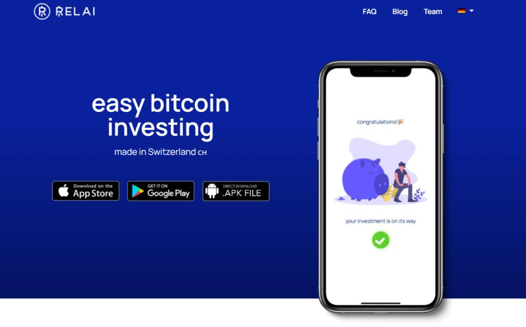 Bitcoins regelmaessig kaufen mit Relai App