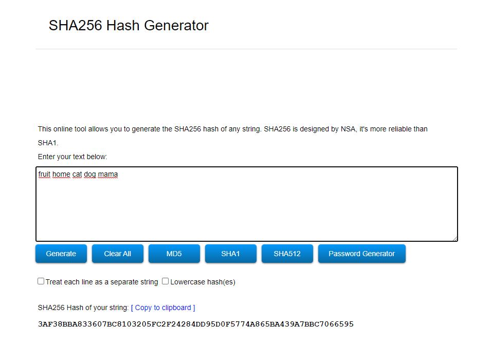 SHA256 in Bitcoin